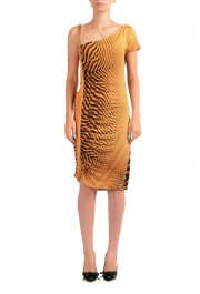 Just Cavalli Women's Multi-Color Bodycon Asymmetrical Dress