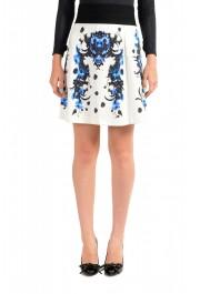 Just Cavalli Women's Multi-Color Stretch A-Line Mini Skirt