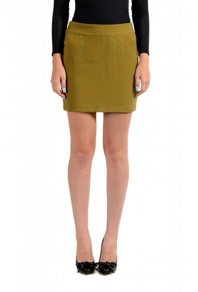 Versace VJC Women's Olive Green Mini A-Line Skirt
