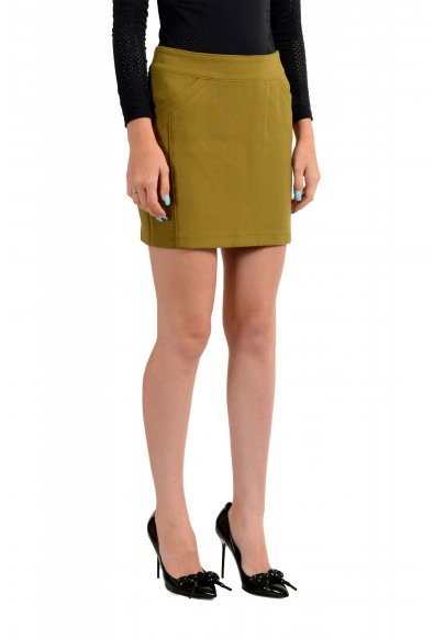 Versace VJC Women's Olive Green Mini A-Line Skirt: Picture 2