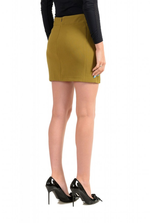 Versace VJC Women's Olive Green Mini A-Line Skirt: Picture 3