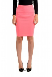 Versus by Versace Women's Neon Pink Stretch Pencil Skirt