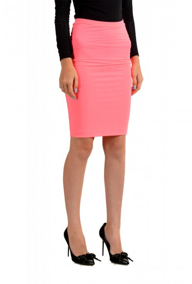 Versus by Versace Women's Neon Pink Stretch Pencil Skirt : Picture 2
