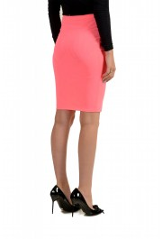 Versus by Versace Women's Neon Pink Stretch Pencil Skirt : Picture 3