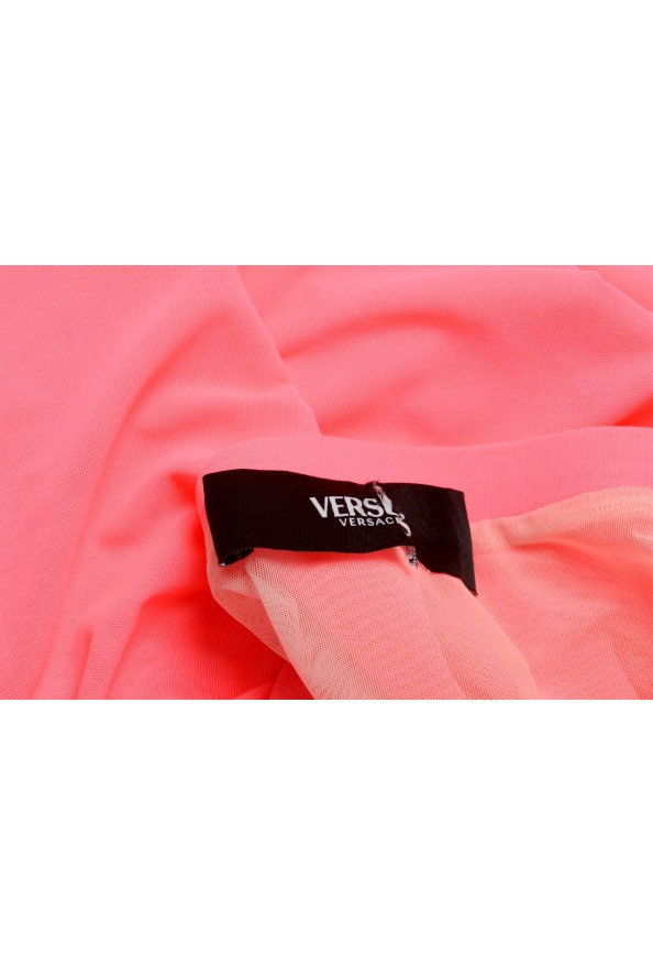 Versus by Versace Women's Neon Pink Stretch Pencil Skirt : Picture 4