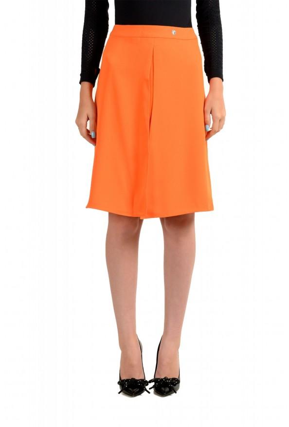 Versace Collection Women's Orange A-Line Skirt