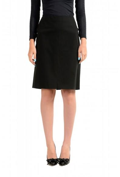 Versace Jeans Couture Women's Black Pencil Skirt