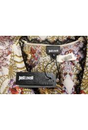 Just Cavalli Women's Multi-Color 100% Silk Lace Trimmed Blouse Top: Picture 6