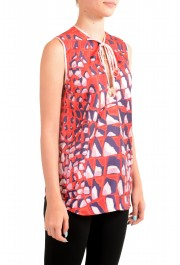 Dsquared2 Women's 100% Silk Multi-Color Sleeveless Blouse Top: Picture 2