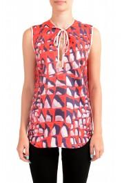 Dsquared2 Women's 100% Silk Multi-Color Sleeveless Blouse Top