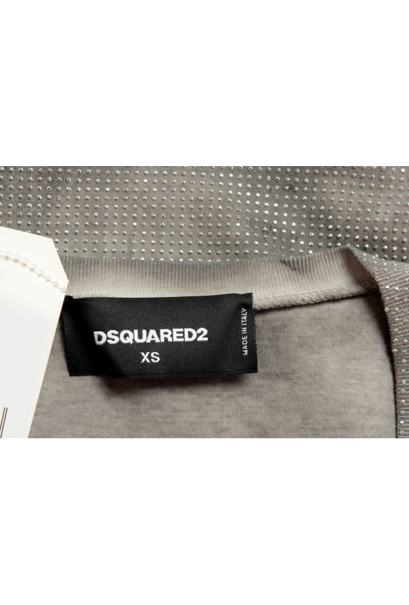 Dsquared2 Women's Distressed Look Sparkle V-Neck T-Shirt Top: Picture 5