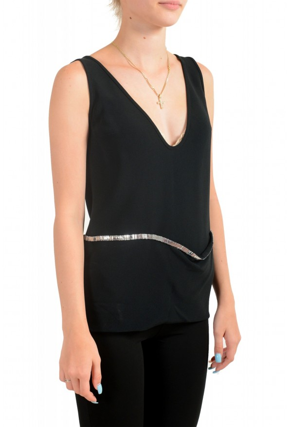 Dsquared2 Women's Black Sleeveless Blouse Top: Picture 2