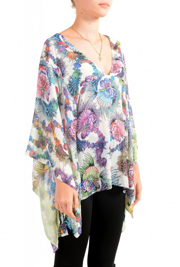 Just Cavalli Women's Multi-Color See Through Blouse Tunic Top : Picture 2