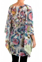 Just Cavalli Women's Multi-Color See Through Blouse Tunic Top : Picture 3