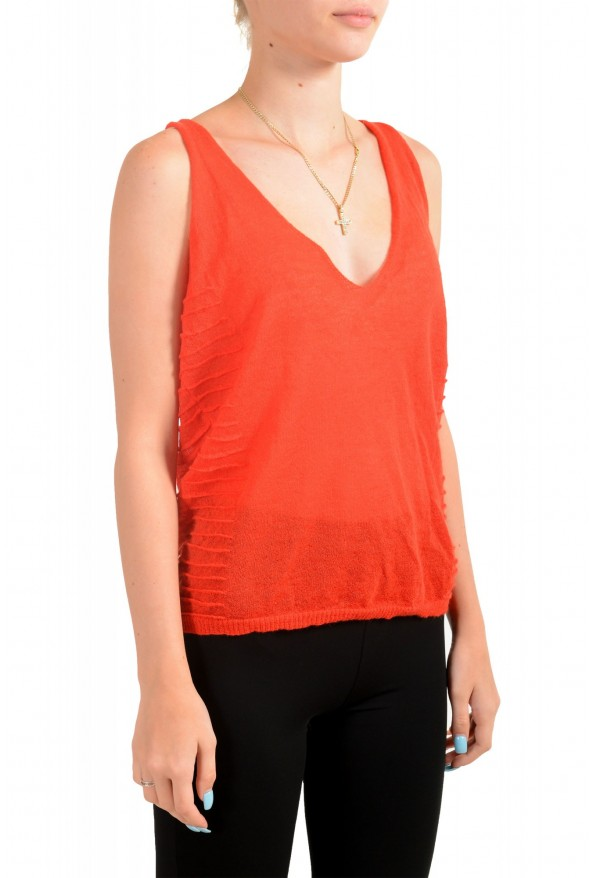 Just Cavalli Women's Red Mohair Knitted Tank Top: Picture 2