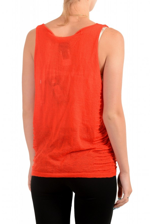 Just Cavalli Women's Red Mohair Knitted Tank Top: Picture 3