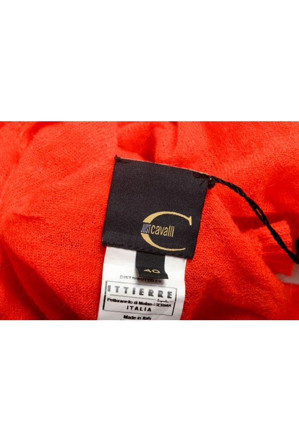 Just Cavalli Women's Red Mohair Knitted Tank Top: Picture 4
