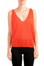 Just Cavalli Women's Red Mohair Knitted Tank Top