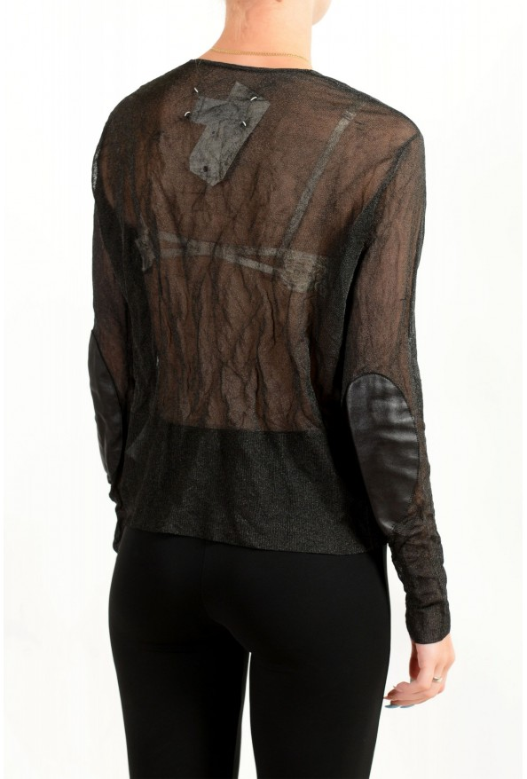 Maison Margiela Women's Gray See Through Cardigan Sweater: Picture 2