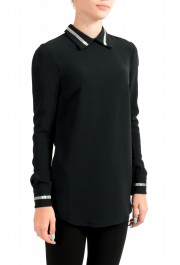 Just Cavalli Women's Black Embellished Blouse Tunic Top: Picture 2