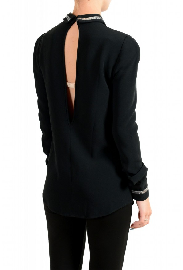 Just Cavalli Women's Black Embellished Blouse Tunic Top: Picture 3