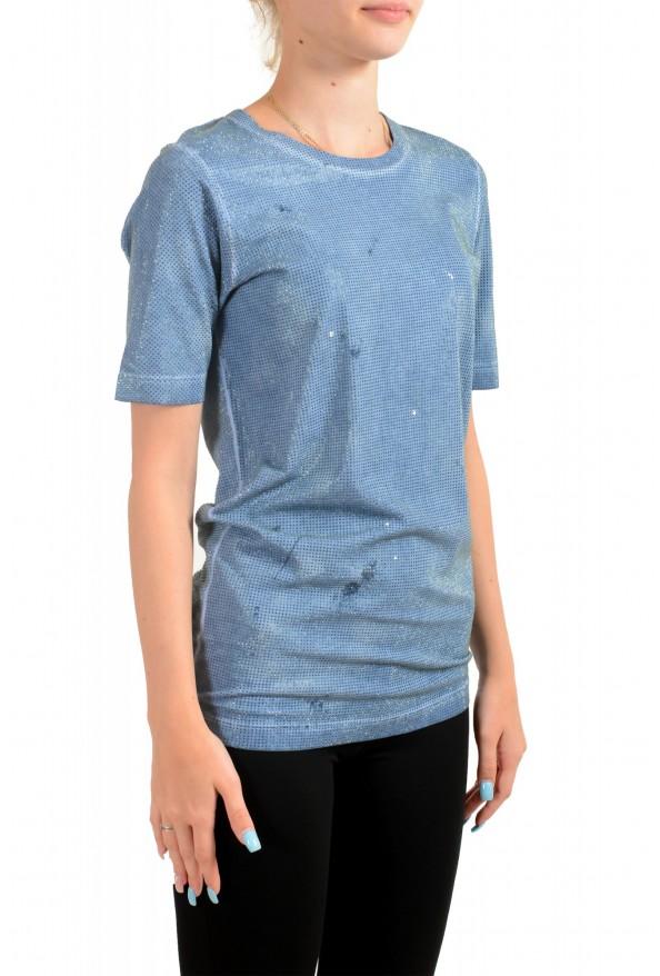 Dsquared2 Women's Distressed Look Sparkle Crewneck T-Shirt Top : Picture 2