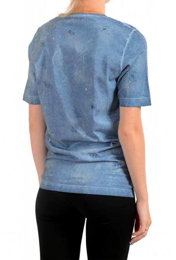 Dsquared2 Women's Distressed Look Sparkle Crewneck T-Shirt Top : Picture 3