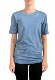 Dsquared2 Women's Distressed Look Sparkle Crewneck T-Shirt Top