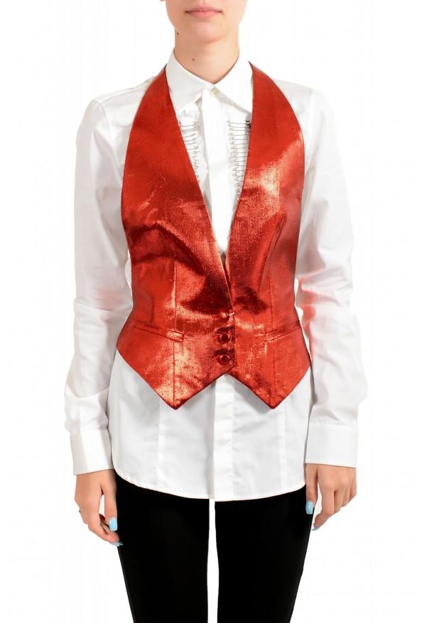 Maison Margiela Women's Sparkle Red Vest