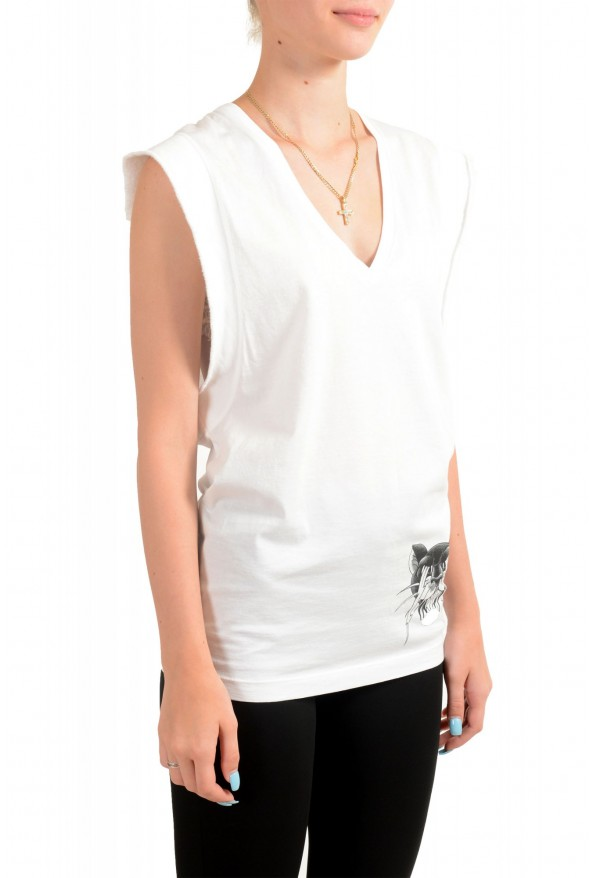 Dsquared2 Women's White Sleeveless T-Shirt Tank Top : Picture 2
