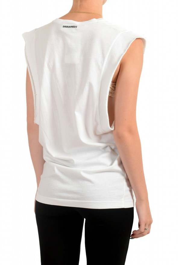 Dsquared2 Women's White Sleeveless T-Shirt Tank Top : Picture 3