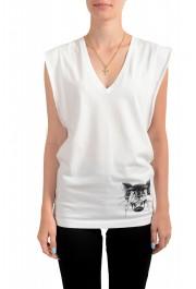 Dsquared2 Women's White Sleeveless T-Shirt Tank Top