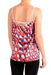 Dsquared2 Women's 100% Silk Multi-Color Sleeveless Blouse Top: Picture 3