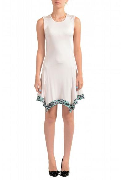 Just Cavalli Women's Pink Fit & Flare Sleeveless Dress