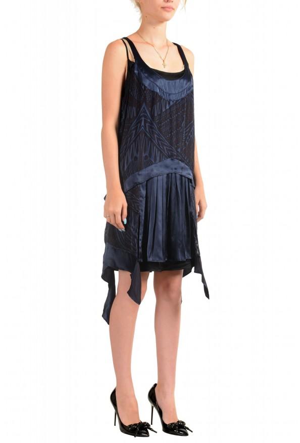 Just Cavalli Women's Silk Dark Blue Sundress Shift Dress : Picture 2