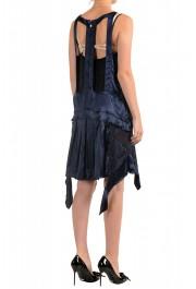 Just Cavalli Women's Silk Dark Blue Sundress Shift Dress : Picture 3