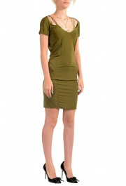 Just Cavalli Women's Olive Green Bodycon Shift Dress: Picture 2
