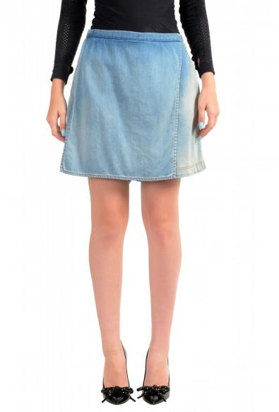 Just Cavalli Women's Denim Skort Mini Shorts