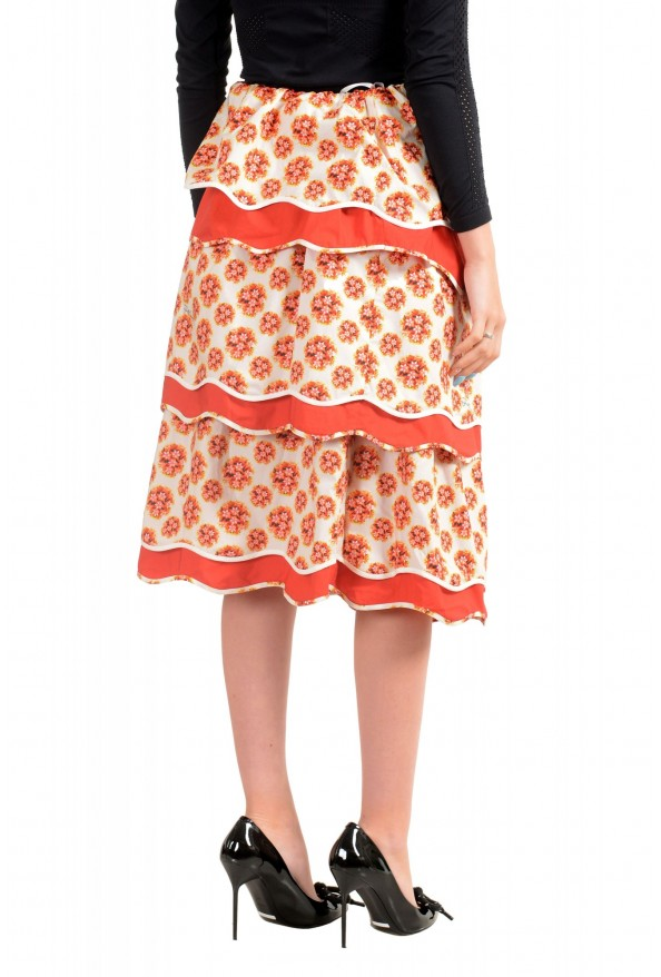 Just Cavalli Women's Tiered Ruffled Midi Multi-Color Skirt: Picture 3