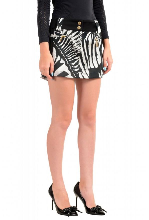 Just Cavalli Women's Multi-Color Floral Print Mini Skirt : Picture 2