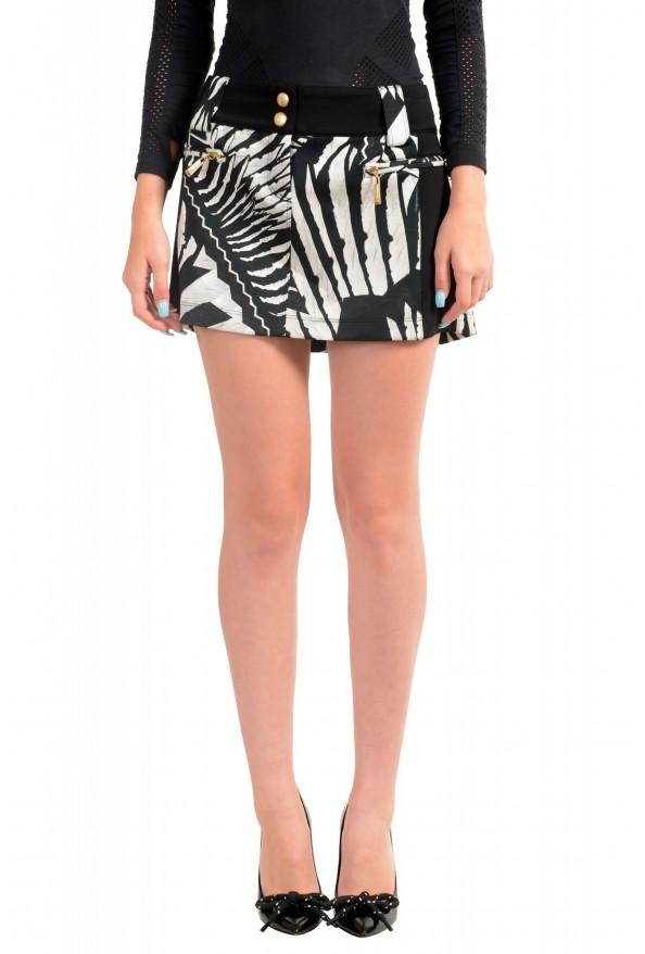 Just Cavalli Women's Multi-Color Floral Print Mini Skirt