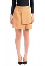 Just Cavalli Women's Beige A-Line Mini Skirt