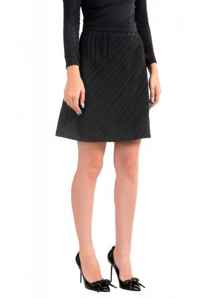 Just Cavalli Women's Black Textured A-Line Mini Skirt : Picture 2