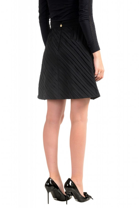 Just Cavalli Women's Black Textured A-Line Mini Skirt : Picture 3