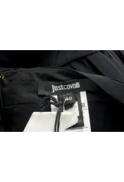 Just Cavalli Women's Black Textured A-Line Mini Skirt : Picture 4