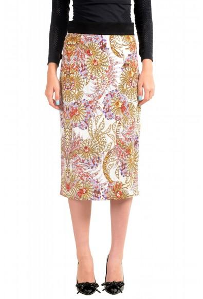 Just Cavalli Women's Multi-Color Stretch Pencil Skirt