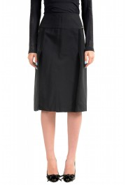 Just Cavalli Women's Black A-Line Skirt