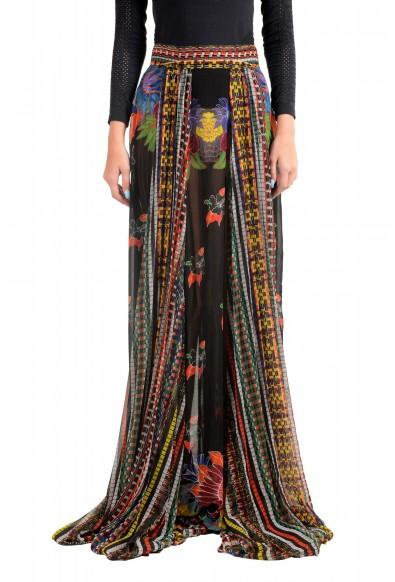 Just Cavalli Women's Multi-Color Pleated Maxi Skirt