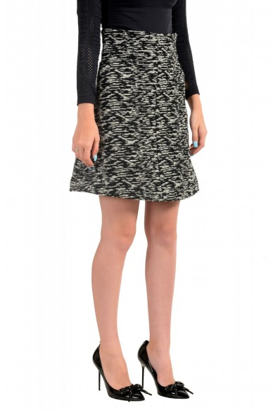 Just Cavalli Women's Multi-Color Wool Textured A-Line Skirt : Picture 2