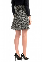 Just Cavalli Women's Multi-Color Wool Textured A-Line Skirt : Picture 3